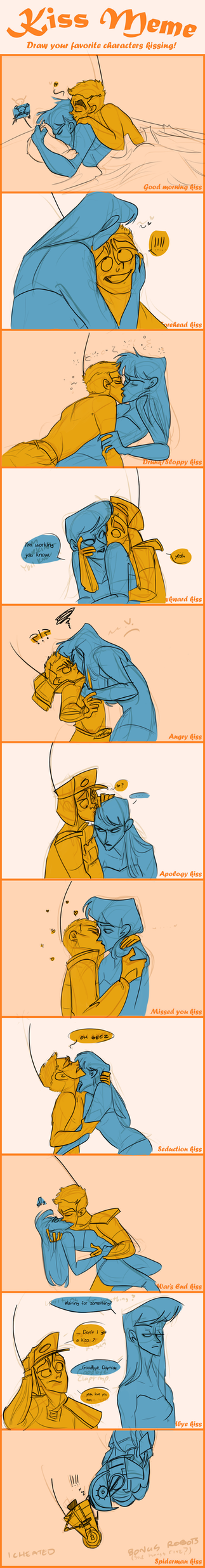 Stupid dumb idiot kiss meme ClapDOS by Wolf-Shadow77