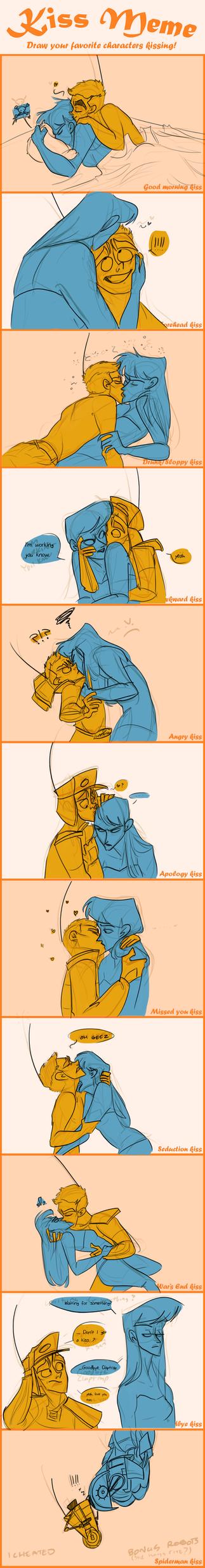 Stupid dumb idiot kiss meme ClapDOS by Wolf-Shadow77