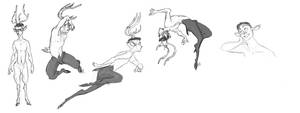 Dynamic Fawn Poses by Wolf-Shadow77