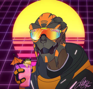80's Synthwave PFP Commission