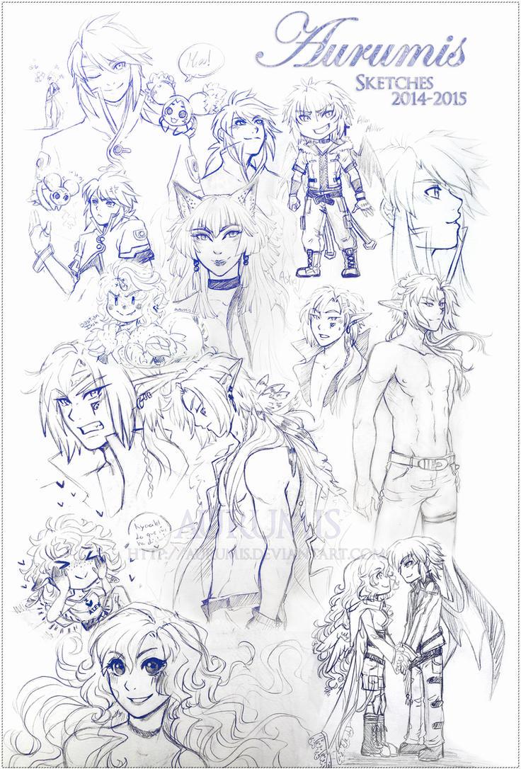 .: Sketches 14-15 :. by Aurumis