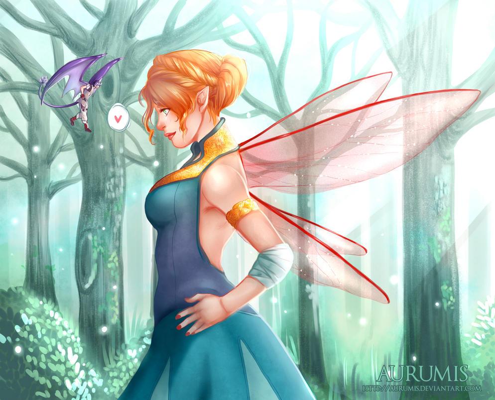 .: WynTa Collab: Dreamy Forest :. by Aurumis
