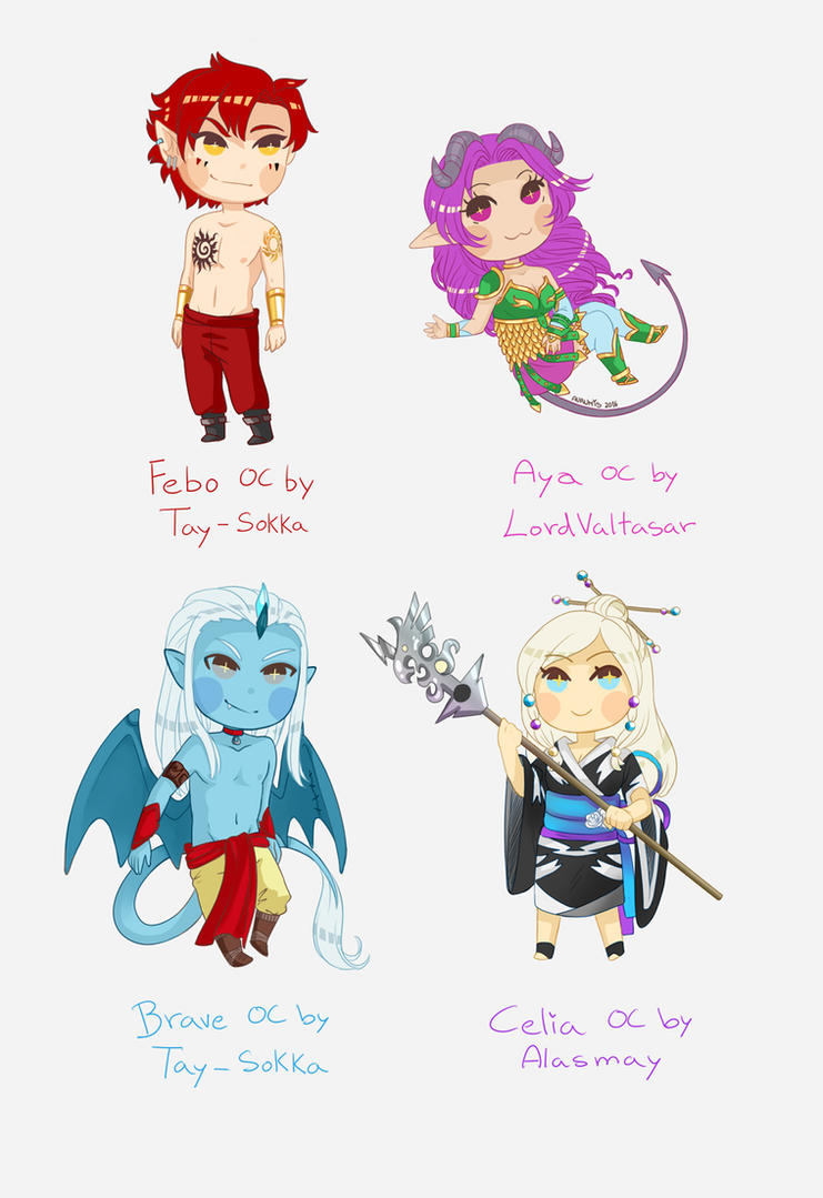 Chibi Commissions by Aurumis
