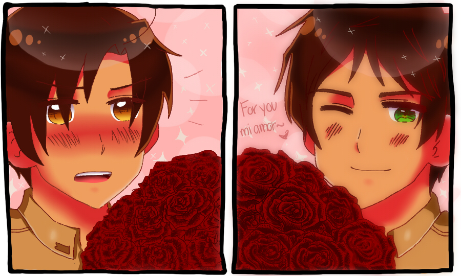 [APH] For you, Mi Amor .:COLLAB:. by THE-L0LLIP0P