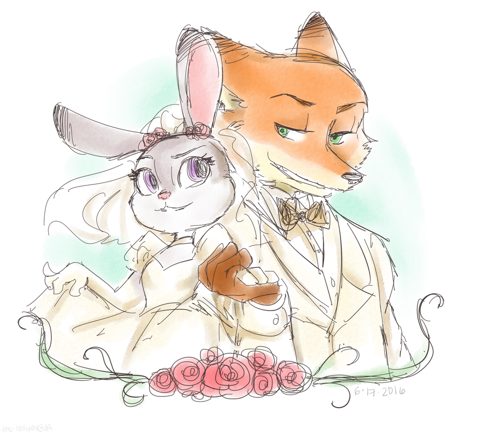 [Zootopia] Wedding by THE-L0LLIP0P