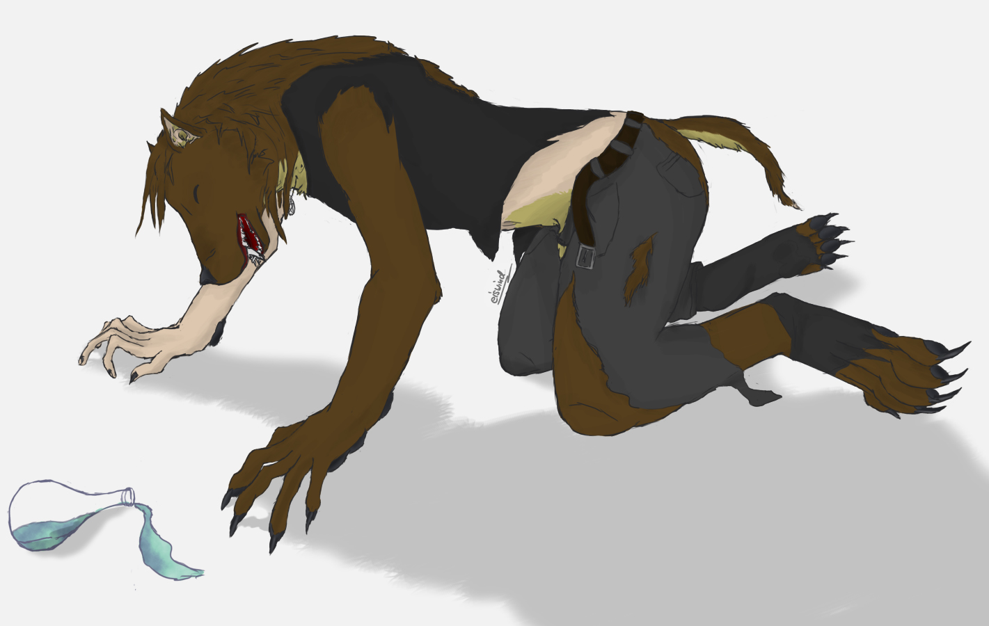 Werewolf Transformation by icewolf289