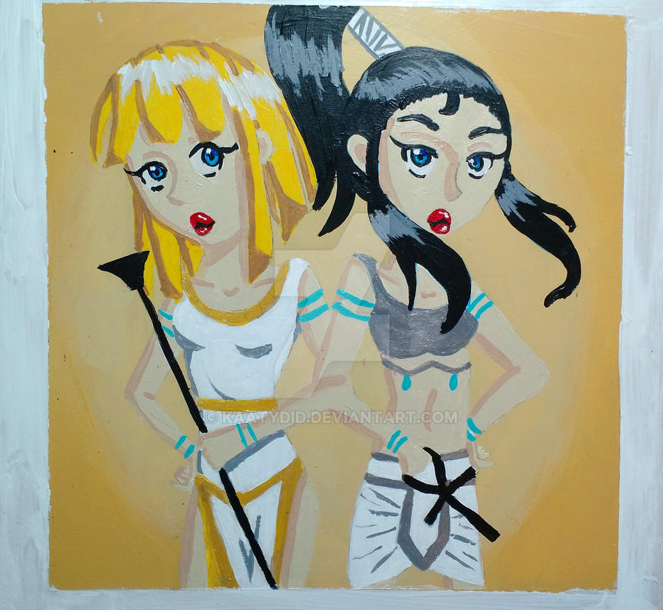 Isis And Nephthys Twin Goddesses By Kaatydid On Deviantart