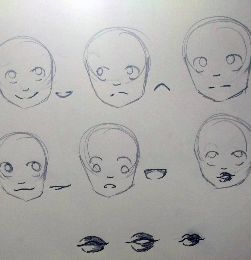 How to draw anime mouths by kaatydid