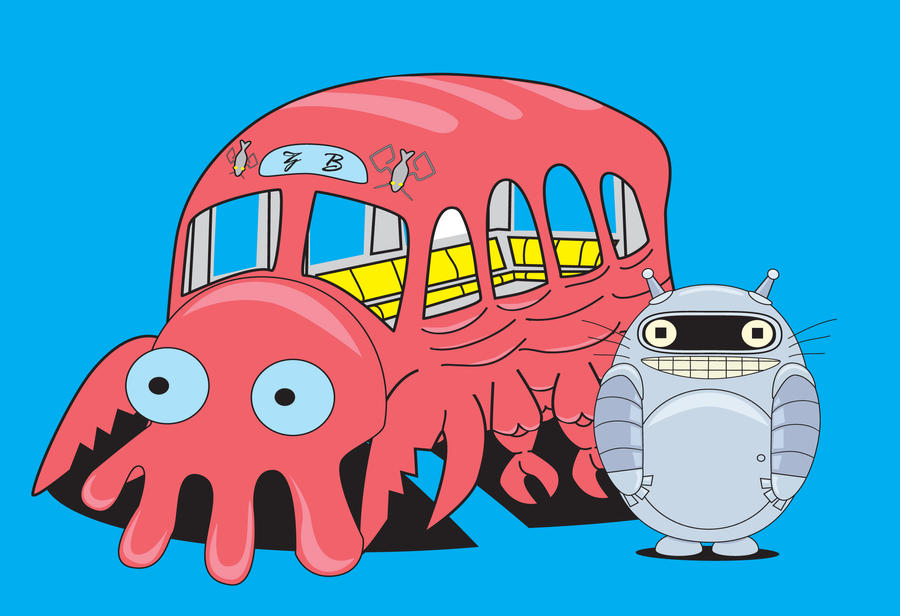 Bendoro and Zoidberg bus by NonoKraken