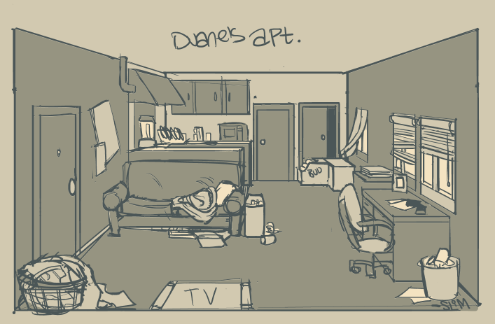 Duane's Apartment by SlimmerCat