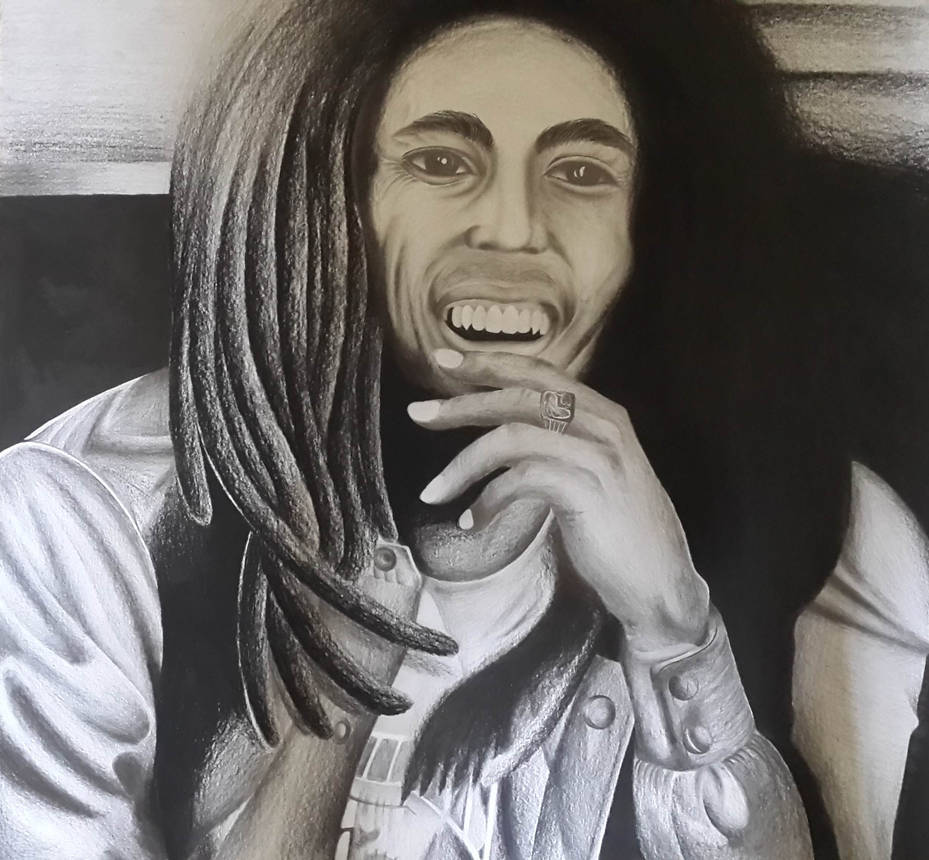 Bob marley pencil drawing by cursedmadara on deviantart