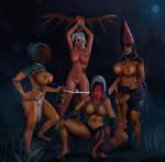 The Crones And Ciri by CursedMadara