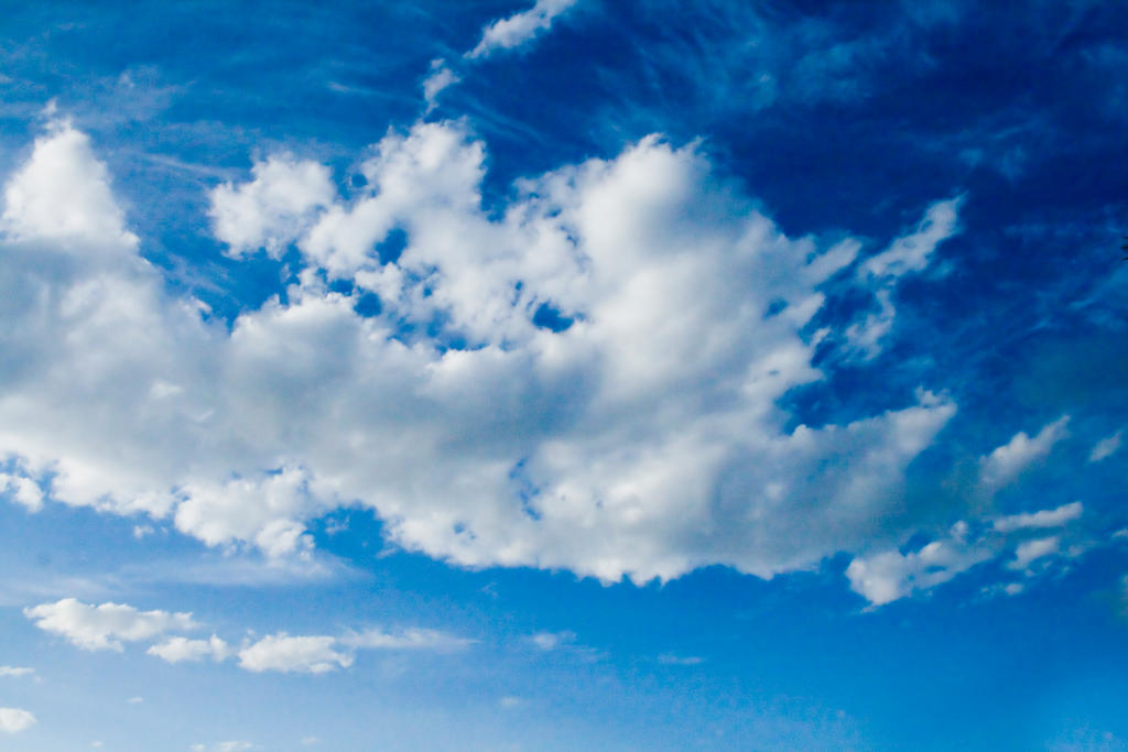 Blue Cloudy Sky Dramatic blue cloudy skies by