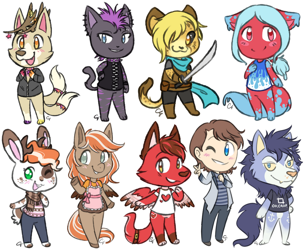 Chibi Commission Batch by Angel-soma