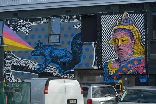 Streetart 1705/ Squirrel Queen?