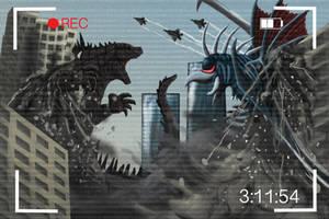 Godzilla vs Gigan 2014 by notpongkong