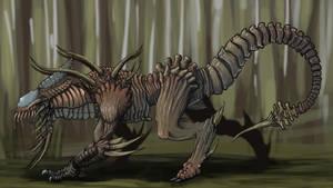 Predator Hound Xenomorph (alternate Backdrop) by notpongkong