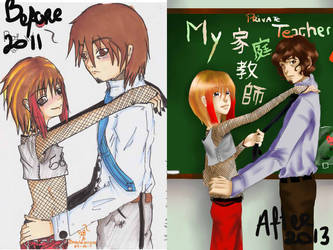 My private teacher :: Before-After