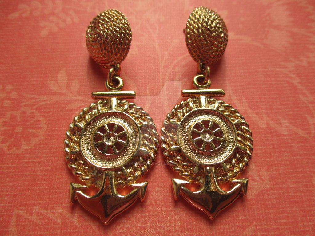 Vintage Sailor Earrings FOR SALE! by HotTamaleVintage