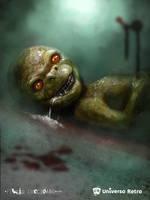 Reptilian baby - V The Visitors by flavioluccisano