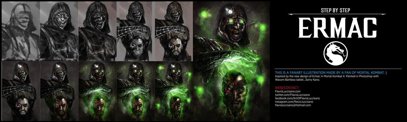 Ermac (Mortal Kombat X) STEP BY STEP by flavioluccisano