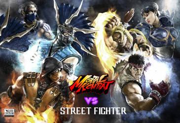 Street Fighter VS Mortal Kombat by flavioluccisano