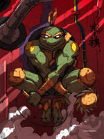 Michelangelo from Rise of TMNT.