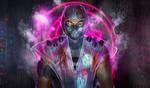 Sub Zero (cyberpunk concept) with raincoat