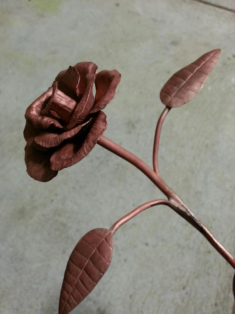 how to clean rose copper
