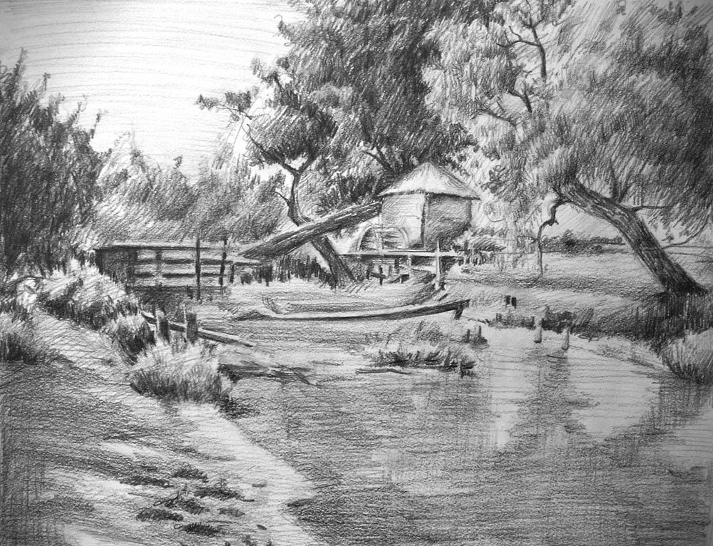 Pencil Drawing Landscape Artist