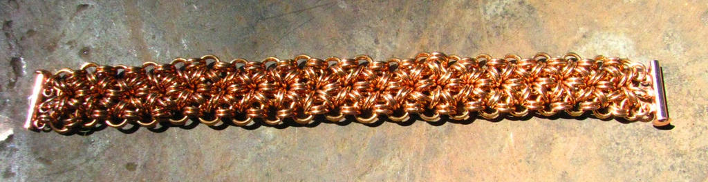 Bronze 12 in 2 bracelet II by Dragonwooddesigns