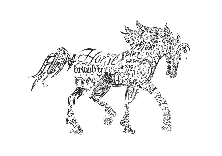Concretepoetry Horse By Sarah902 On Deviantart