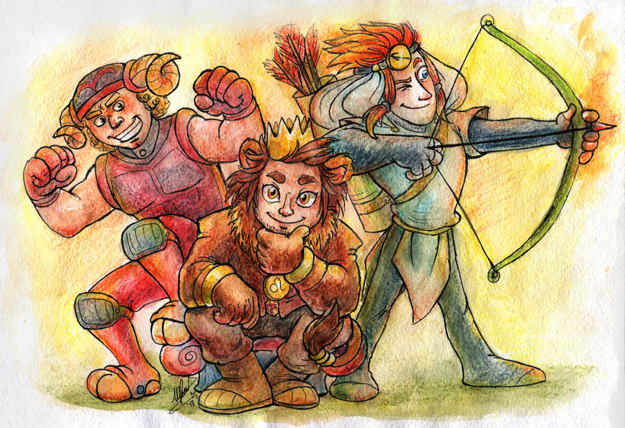 The Fire Signs by Demona-Silverwing