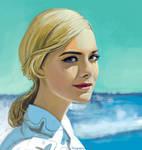 Elle Fanning on the sea