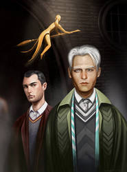 Young Gellert Grindelwald And Albus Dumbledore by chernyshov