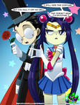 Sailor Tak and Tuxedo Dib by Silent-Sid