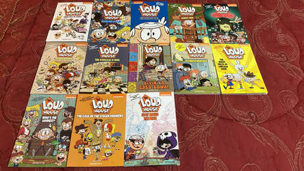 Every Loud House graphic novel I have