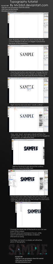 Typography text tutorial