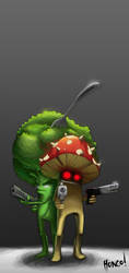 Broccoli vs Mushroom by hongo-9195