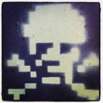 Digi Skull Stencil