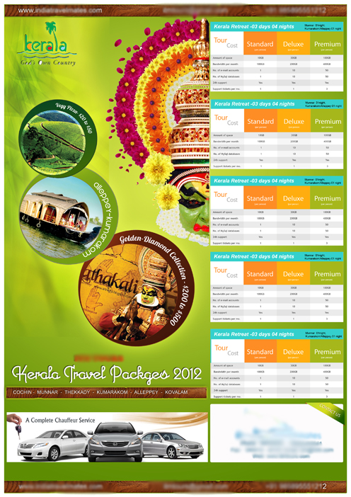 Flyer Design For A Travel Agency By Sibinps On Deviantart