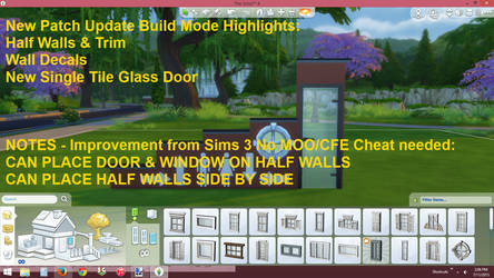 Sims 4 7_2015 Patch Build Mode Hightlights by BUILDSims