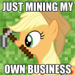 Applejack is Mining her own Business