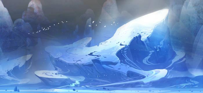 Giant ice mountain