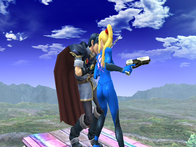 zero suit samus and link kiss - photo #1