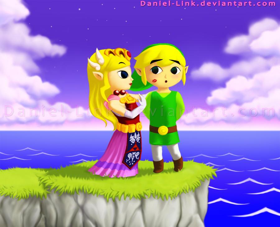 Zelda and Link by Daniel-Link