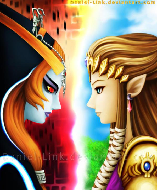 Midna and Zelda by Daniel-Link