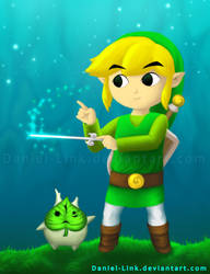 Link and Makar by Daniel-Link