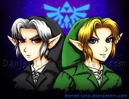 Link and Dark Link by Daniel-Link