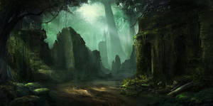 Forest Ruin by Showmeyourmoves